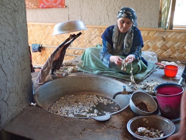 women making silk
