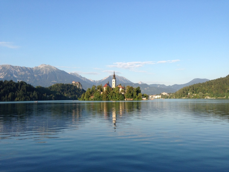 Lake Bled, Slovenia, with its tiny island