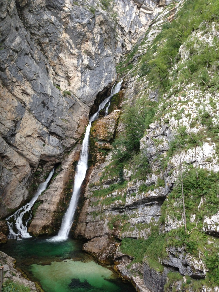 Savica waterfall, in the Triglav National Park