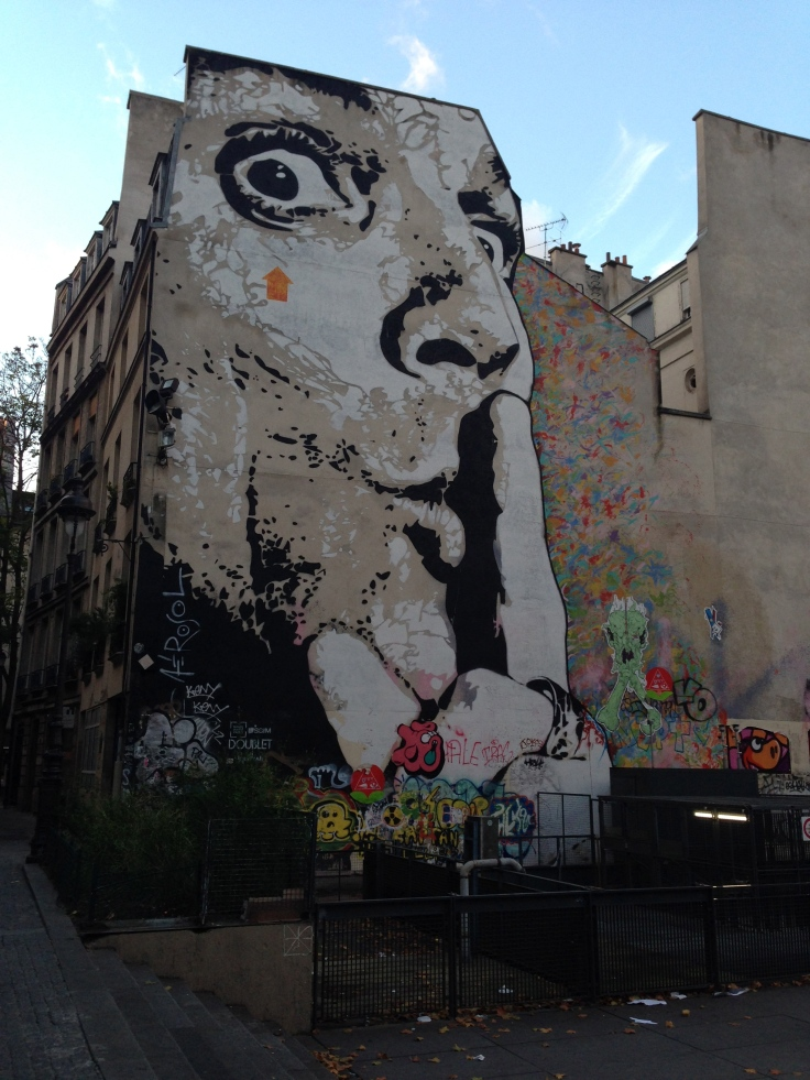 graffiti near pompidou center