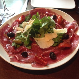 the delicious beef carpaccio